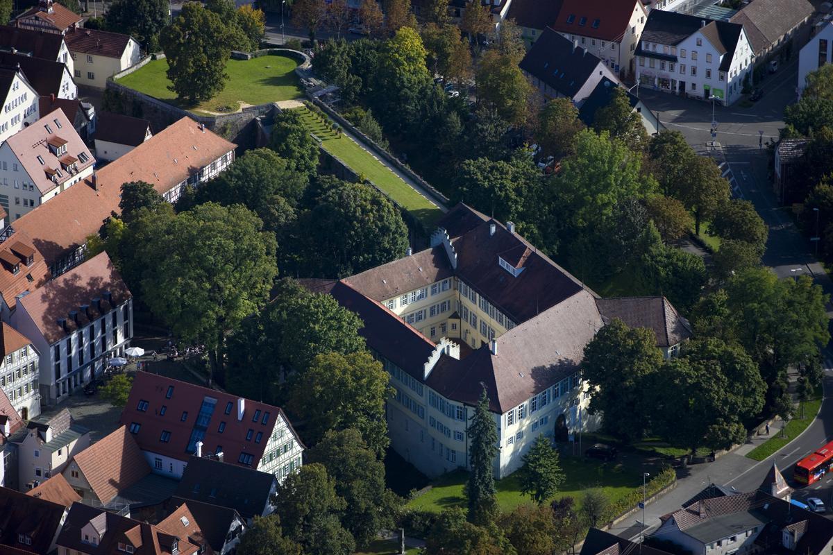 Aerial view of Kirchheim Palace with casemates and bastion. Image: Staatliche Schlösser und Gärten Baden-Württemberg, Achim Mende