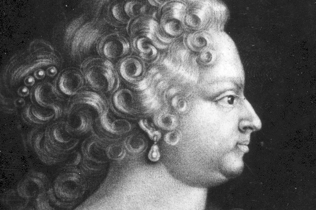 Porträt der Herzogin Johanna Elisabeth, geb. von Baden-Durlach