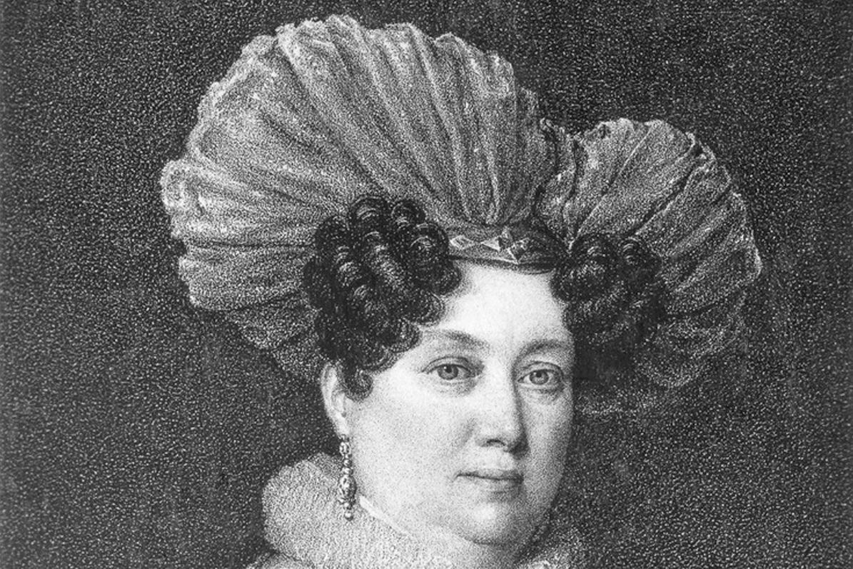 Duchess Henriette von Württemberg, copper engraving circa 1830. Image: Landesmedienzentrum Baden-Württemberg, Robert Bothner