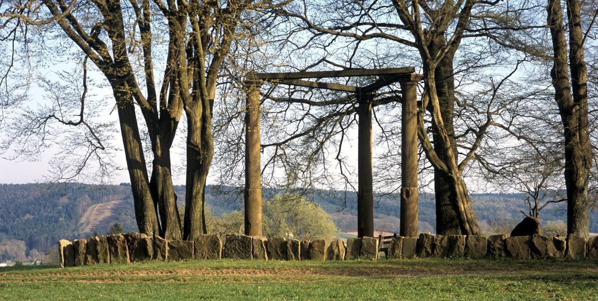 Rekonstruktion eines Galgens; Foto: Landesmedienzentrum Baden-Württemberg, Eberhard Späth