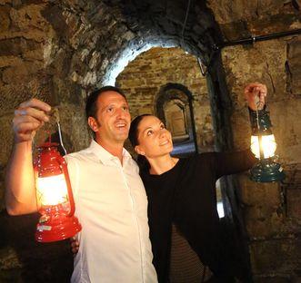 Lantern tour of the casemates