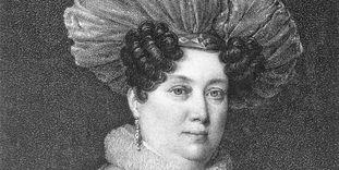 Duchess Henriette von Württemberg, copper engraving circa 1830.