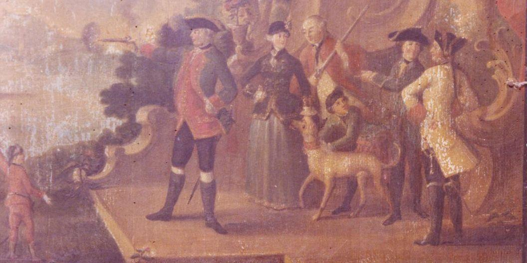 Royal retinue at target practice at Kirchheim Palace