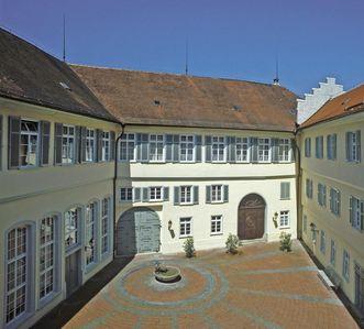Interior courtyard of Kirchheim Palace. Image: Staatliche Schlösser und Gärten Baden-Württemberg, Arnim Weischer