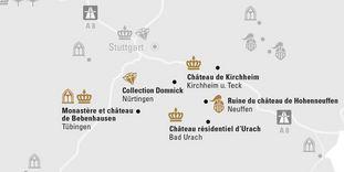 """Carte de région """"Jura Souabe et Tübingen"""""""