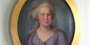 Portrait of Duchess Franziska von Hohenheim, now hanging in Kirchheim Palace.
