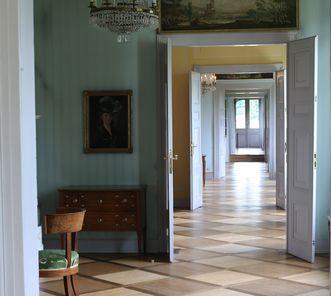 Die Enfilade in Schloss Kirchheim vom Wohnzimmer der Herzogin Henriette