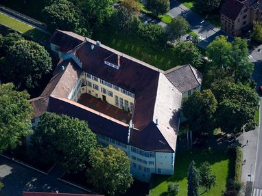Schloss Kirchheim von oben