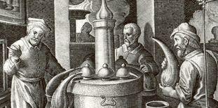 Alchemisten in Kirchheim unter Teck, Kupferstich um 1580