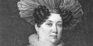 Herzogin Henriette von Württemberg, Kupferstich um 1830.
