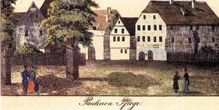 """Das Waisenhaus, die so genannte """"Paulinenpflege"""" in Kirchheim unter Teck."""