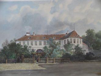 Drawing of Kirchheim Palace during Duchess Henriette's time