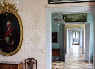 An enfilade of royal rooms